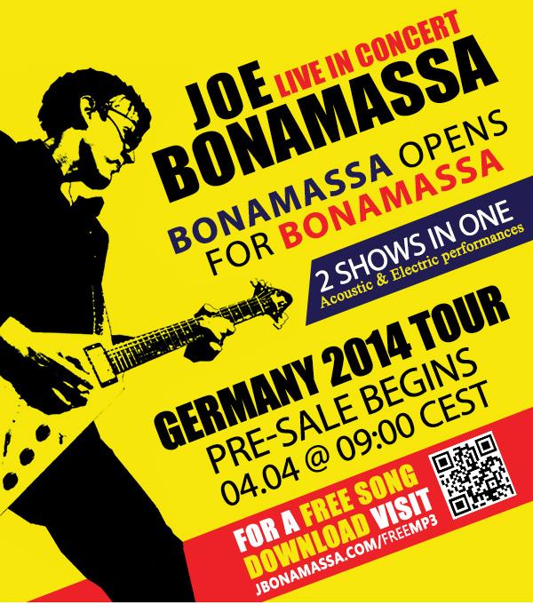 Joe Bonamassa Germany Presale Tickets