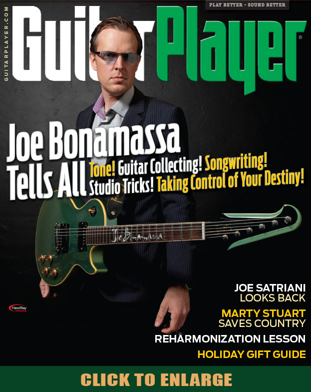 Joe Bonamassa on the cover of Guitar Player magazine