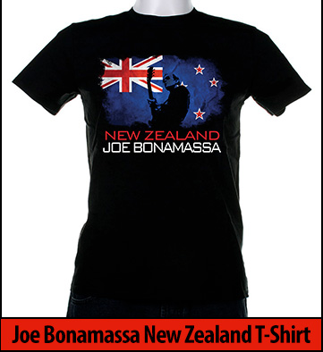 Bonamassa New Zealand world tee